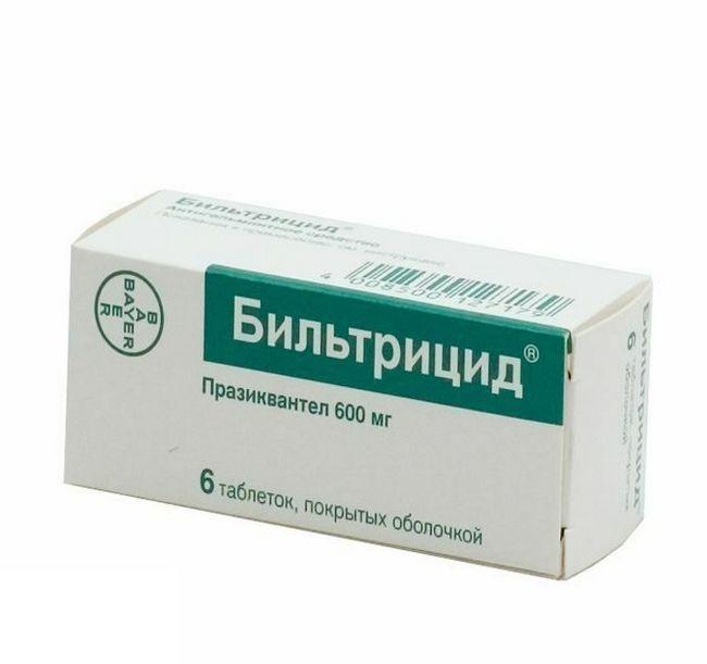 Як лікувати опісторхоз більтріцідом?