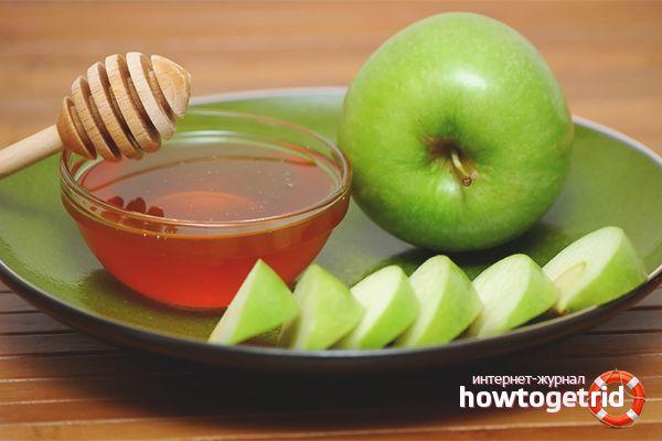 Мёд и яблоко
