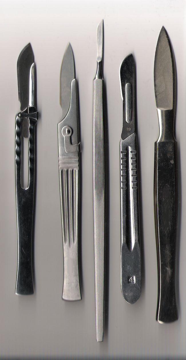 Медицинские скальпели — виды, особенности конструкции и маркировки
