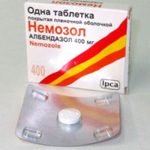 Немозол при лікуванні аскаридозу, як діє на аскарид?