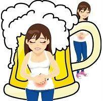 Почему после пива понос?