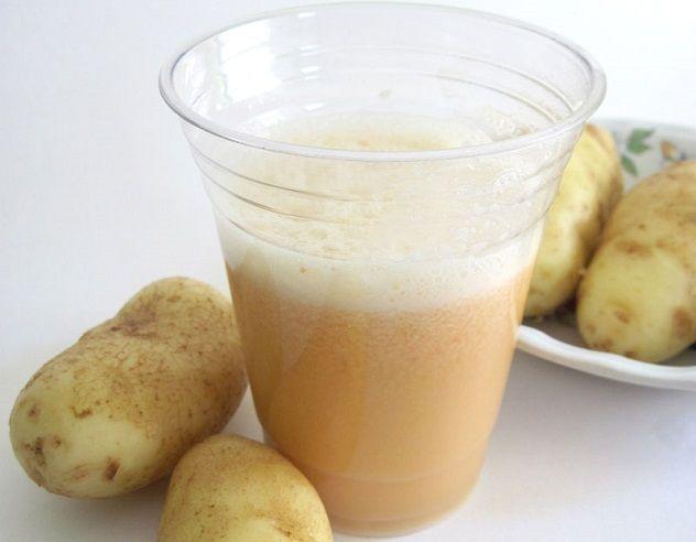 Лечебное действие оказывает сок картофеля