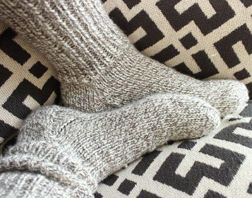 Теплые носки устраняют застойные явления